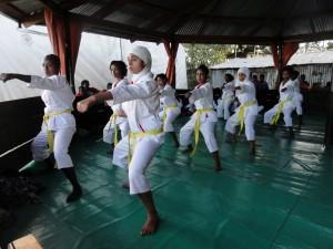 Karateprüfung der Mädchen
