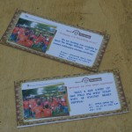 "Invitation cards with the slogan: ""Pedagogy is in Everything we do"""