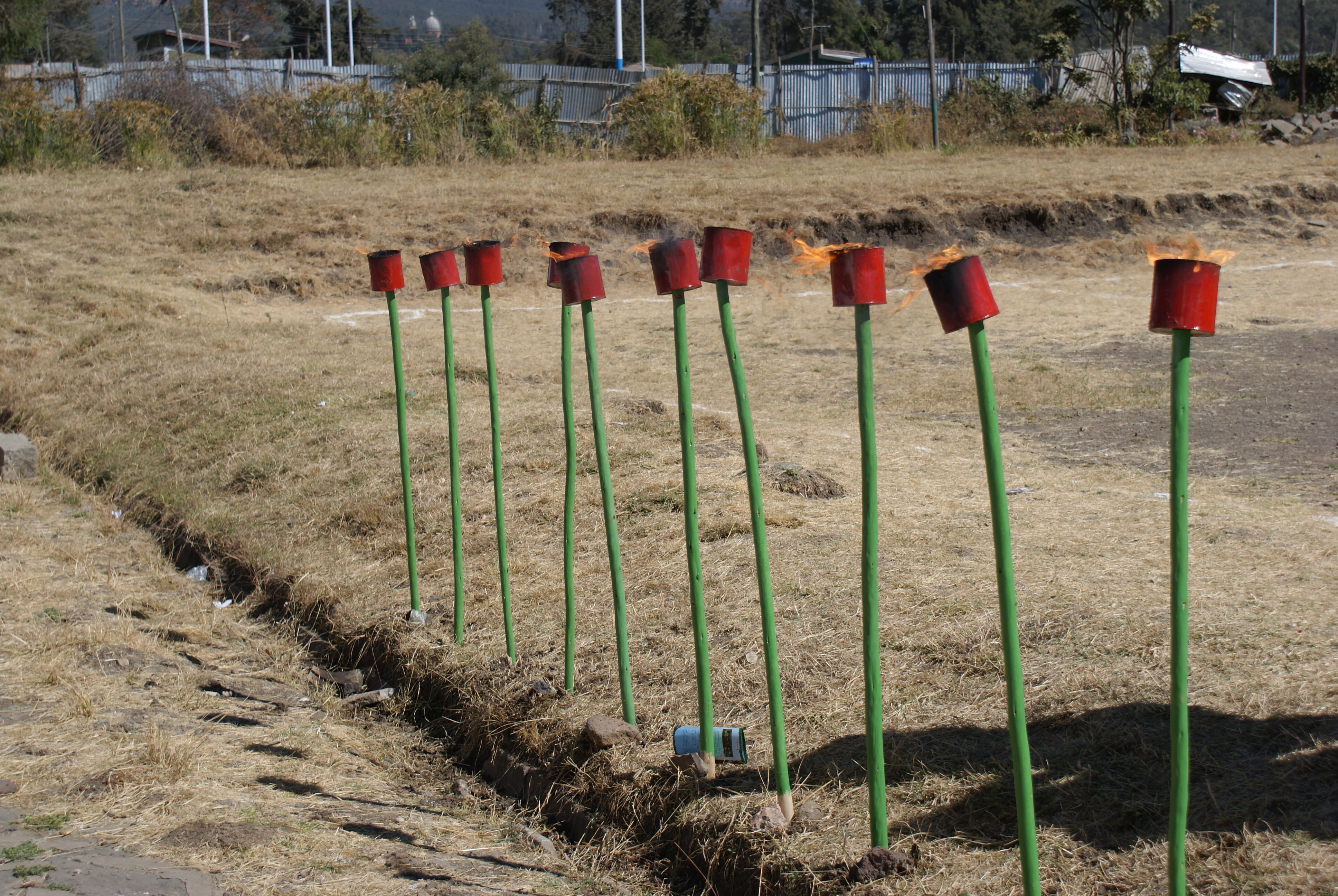 10 Candle torches for 10 years Sport - The Bridge Ethiopia