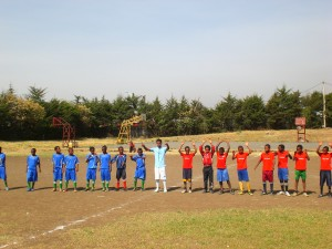 Kick-off of U13 football-tournament, which was organized by Sport - The Bridge Ethiopia