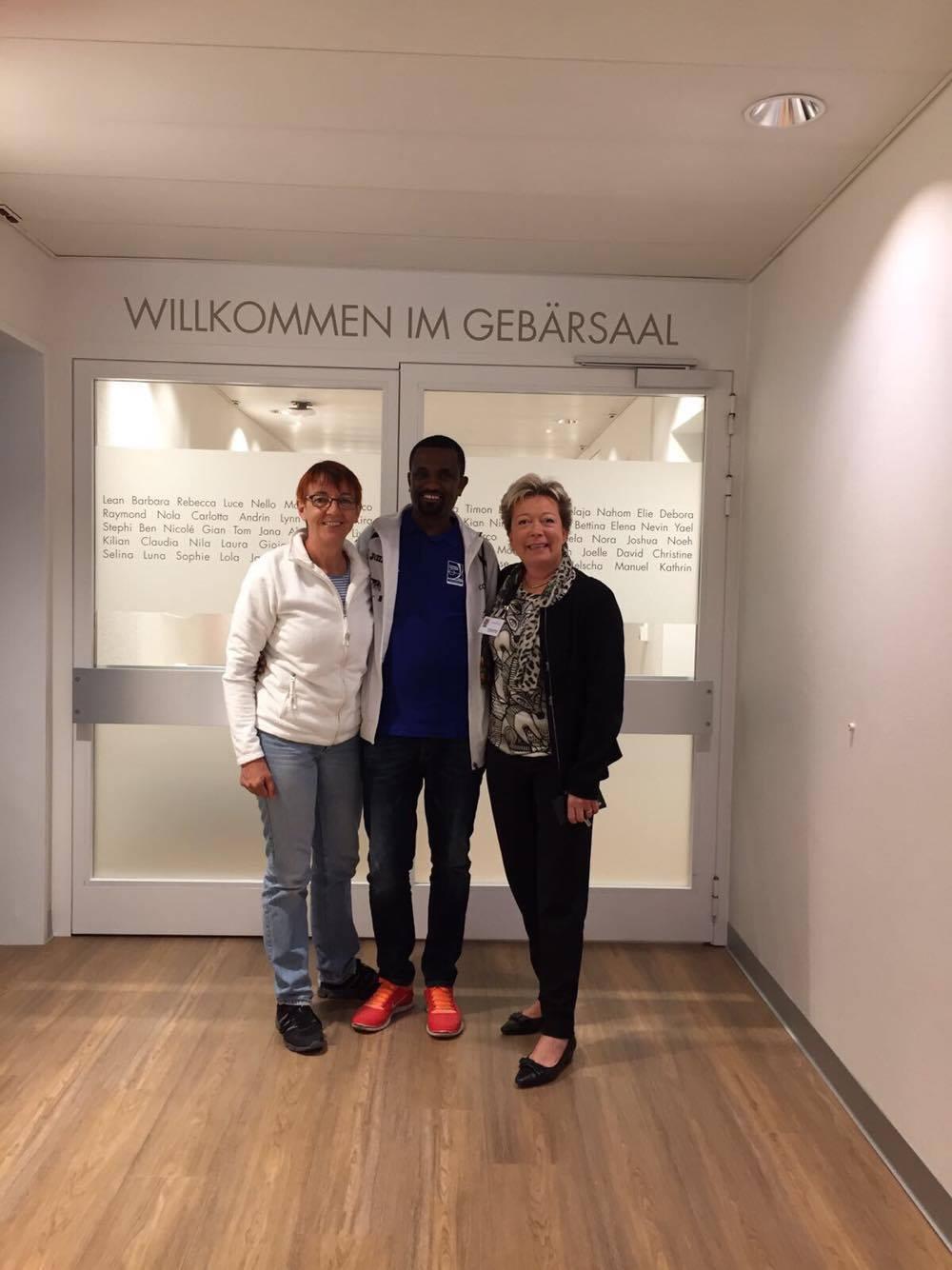 Lisa Meyer, Tamiru Gebermdhin und Christine Schmid (v.l.n.r)