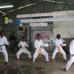 Karate performance by STB girls group (August 2014)