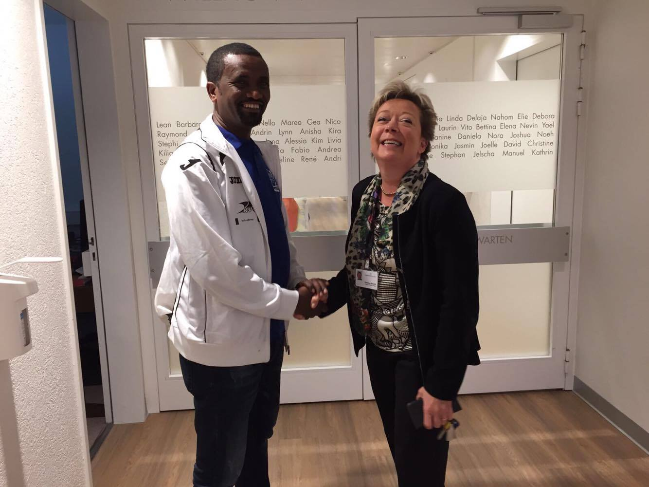 Treffen mit Christine Schmid (rechts im Bild), Mitglied der Geschäftsleitung der Lindenhofgruppe und  langjährige Unterstützerin von STB-Äthiopien